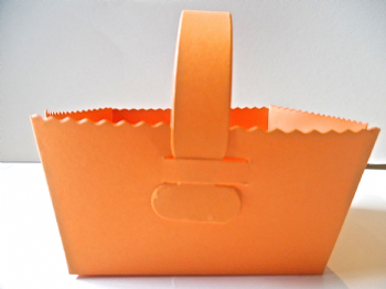 Favour Baskets Gift Box Orange Coloured Card  Hallowe'en treats